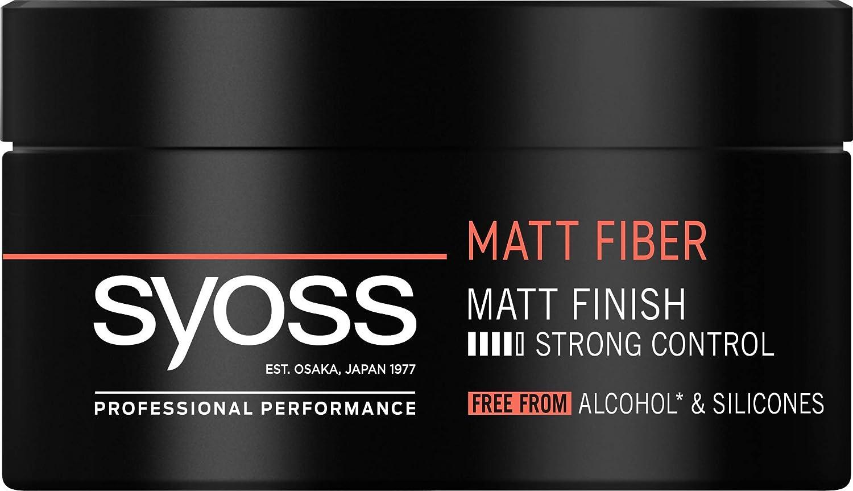 Syoss - Cera Matt Fiber, 6uds de 100ml (600ml), Acabado mate, Fijación fuerte, Sin alcohol etílico ni siliconas, Cabello como recién salido de la peluquería