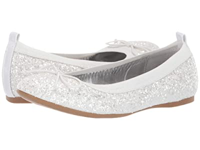 Nina Kids Esther (Little Kid/Big Kid) (White Chunky Glitter) Girls Shoes