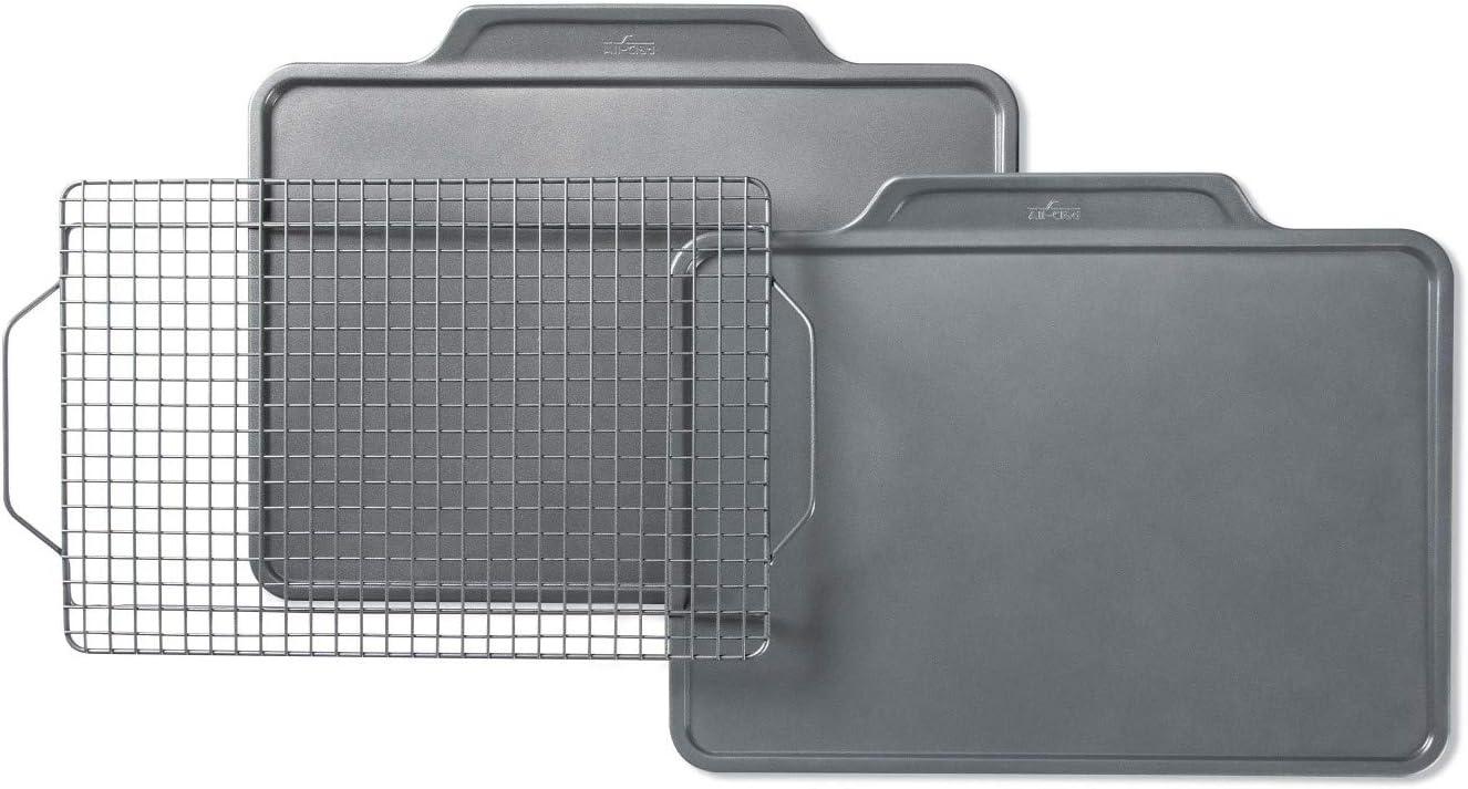 All-Clad Pro-Release cheap 5 ☆ popular bakeware set 3 piece Grey