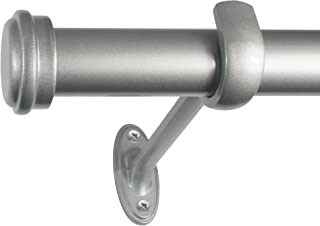 Decopolitan End Cap Curtain Rod, 36 to 72-Inch, Nickel