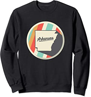 Vintage Arkansas Sweatshirt AR Home State Pullover Teal Gold