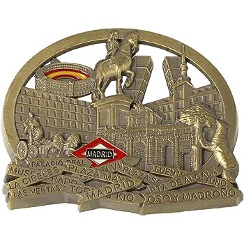 MovilCom® - iman Nevera| Figuras magneticas | imanes Nevera Personalizados de Madrid | diseño Exclusivo Recuerdo de España (Mod.002): Amazon.es: Hogar