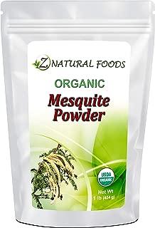 Organic Mesquite Powder (Flour) - 1 lb - Healthy Flour Alternative For Baking, Smoothies, & Recipes - All Natural Source Of Fiber & Minerals - Raw, Non GMO, Gluten Free, Vegan, & Kosher