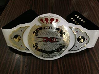 TNA Womens Wrestling Championship Belt Genuine Leather Thick Brass Plated Adults Size