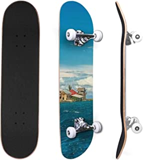 Classic Concave Skateboard shards of ice in seawater forming patterns Canadian Maple Trick Skateboards for Beginners and P...