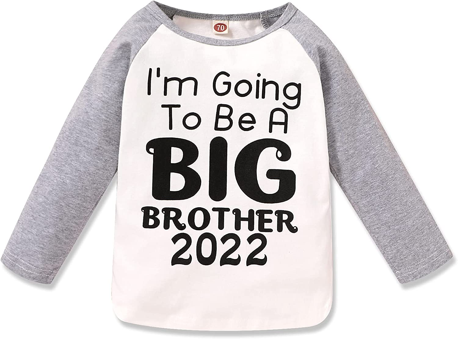 Toddler Kids Baby Boy Tee I'm Going to Be A Big Brother 2022 Shirt Long Sleeve T-Shirt Tops