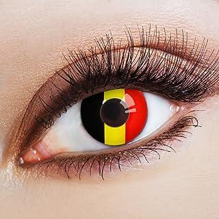 74c96d21617 Couleur des lentilles de contact Flagge Diables Rouges de aricona – années  couvrant la lentille à
