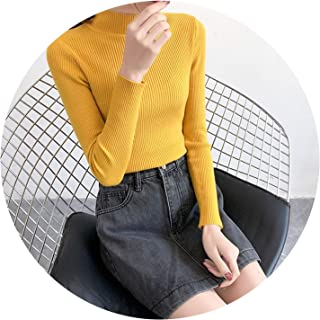 2018 Autumn Winter Knitted Casual Jumper Fashion Slim Turtleneck Warm Female Sweaters