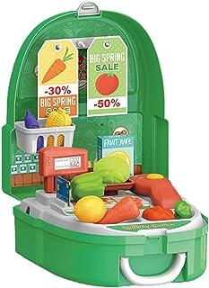 صندوق الظهر، الأطفال محاكاة أدوات المطبخ أدوات التجميل كاشير مجموعة حقيبة الظهر صندوق ألعاب