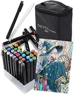 THE PEN for Designer マーカーペン 40色 セット【2019年ver. 】ペンスタンド ホワイト ライナーペン 付き イラストマーカー アルコールマーカー 建築
