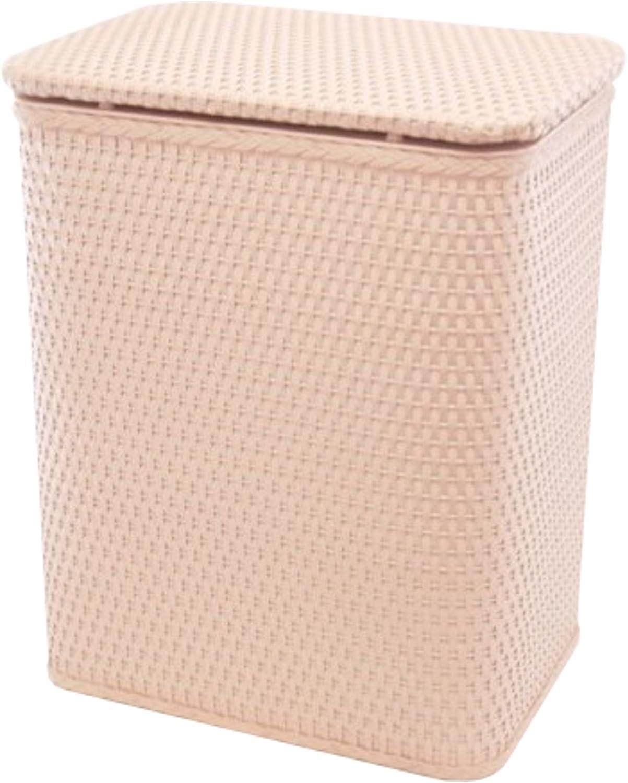 RedmonUSA Redmon for Kids Chelsea Pattern Wicker Nursery Hamper, Tea pink