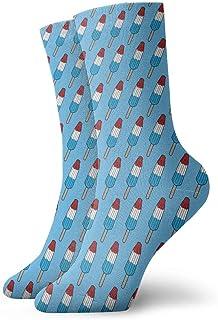 tyui7, Calcetines de compresión antideslizantes de tres colores de paletas Calcetines deportivos de 30 cm para hombres, mujeres y niños