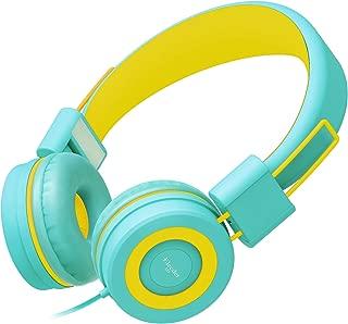 Elecder i37 Kids Headphones for Children Girls Boys Teens Foldable Adjustable On Ear Headphones with 3.5mm Jack for iPad Cellphones Computer MP3/4 Kindle Airplane School