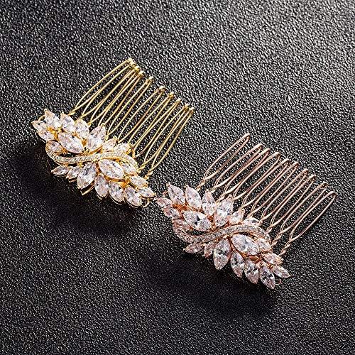 Peinetas para el cabello pequeñas de color dorado, accesorios para el cabello...