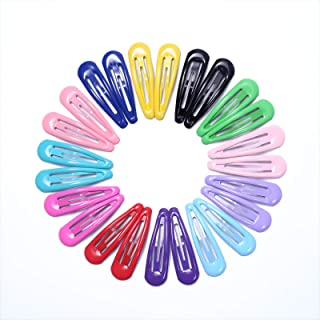 Justbuy Snap Hair Clips 2 Inch 48pcs No Slip Cute Candy Hairpins Smooth Colorful Paint Decorative Metal Barrettes for Baby Girls Toddlers Kids Women Hair Accessories in Box
