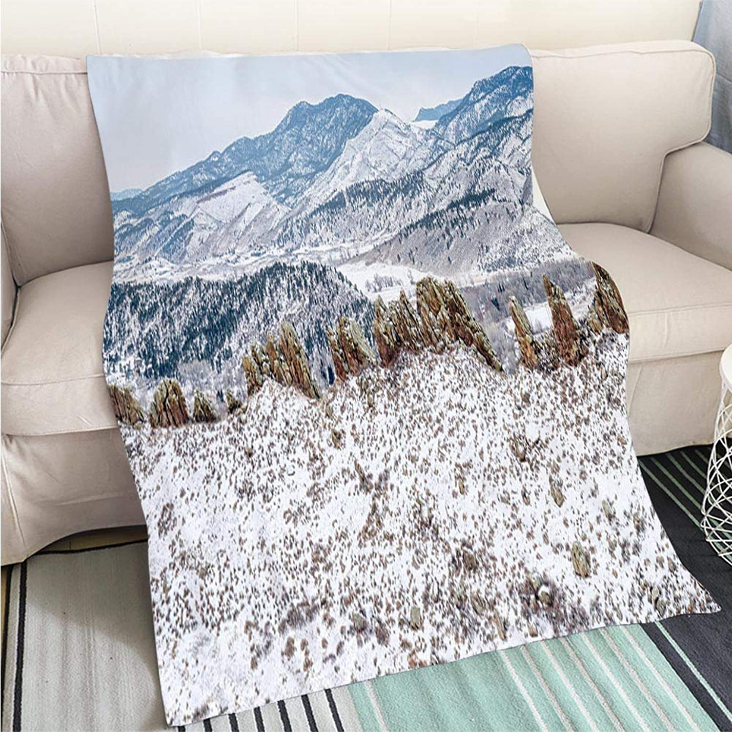 Luxury Super Soft Blanket Devils Backbone Panorama Perfect for Couch Sofa or Bed Cool Quilt