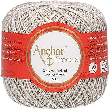 Anchor Hilo para Ganchillo, algodón, 00397 Blanco: Amazon.es: Hogar