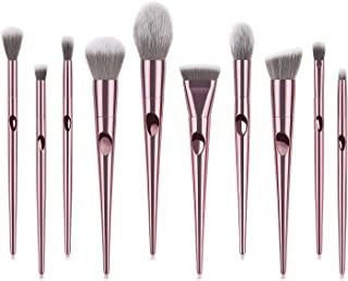 Makeup Brushes Set 10 Pieces Professional Cosmetic Makeup Brush Kit with Synthetic Bristle for Face Powder Foundation Blending Eye Shadow Concealer Rose Pink (10pcs)