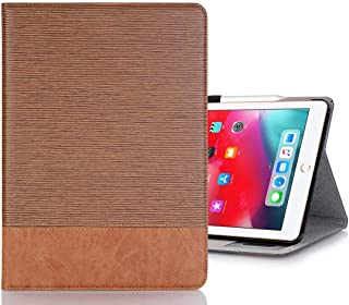 LFPING New Cross Texture Horizontal Flip PU Leather Case for iPad Pro 11 inch (2018), with Holder & Card Slots & Wallet (Color : Brown)