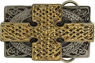 Cross Rectangle Belt Buckle With Gold Plate Detailing Comes in one of my Presentation Boxes. (G)