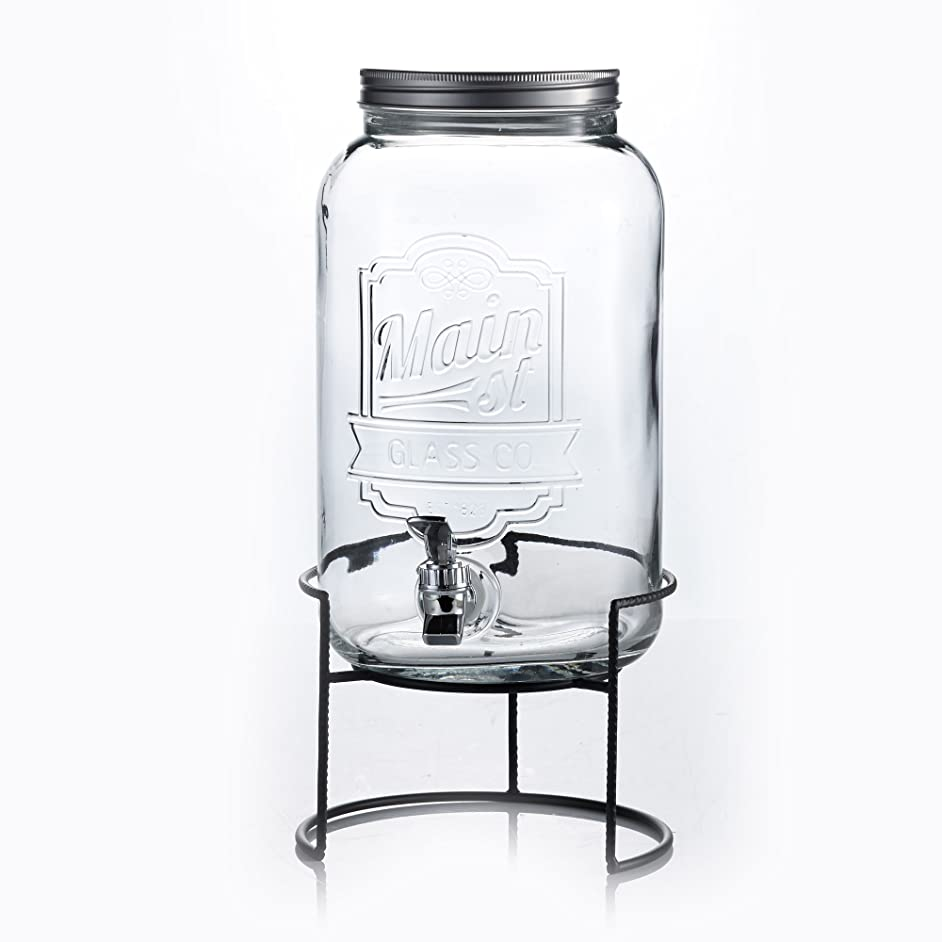 Jay Import 210260-GBR Style Setter Main Street Beverage Dispenser with Stand, 2 Gallon