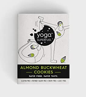 Yoga Superfuel Almond Buckwheat Cookies, Healthy Superfood Snack (Vegan, Gluten Free, Refined Sugar Free). 100 gm