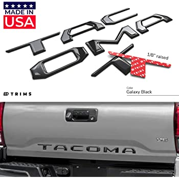 BDTrims Tailgate Raised Letters Compatible with 2016-2020 Tacoma Models Yellow Carbon
