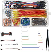 WayinTop Jumper Wire Kit, Preformed Breadboard Jumper Wire 14 Lengths Assorted + Solderless Flexible Breadboard Jumper Wires Male to Male + Tweezer for Breadboard Prototyping