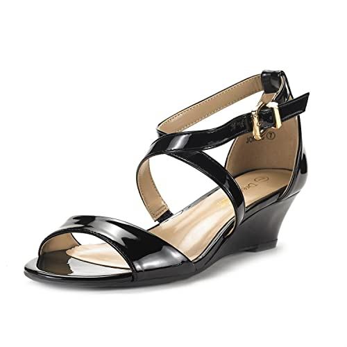 ed7f0198dec DREAM PAIRS Women s Ankle Strap Low Wedge Sandals