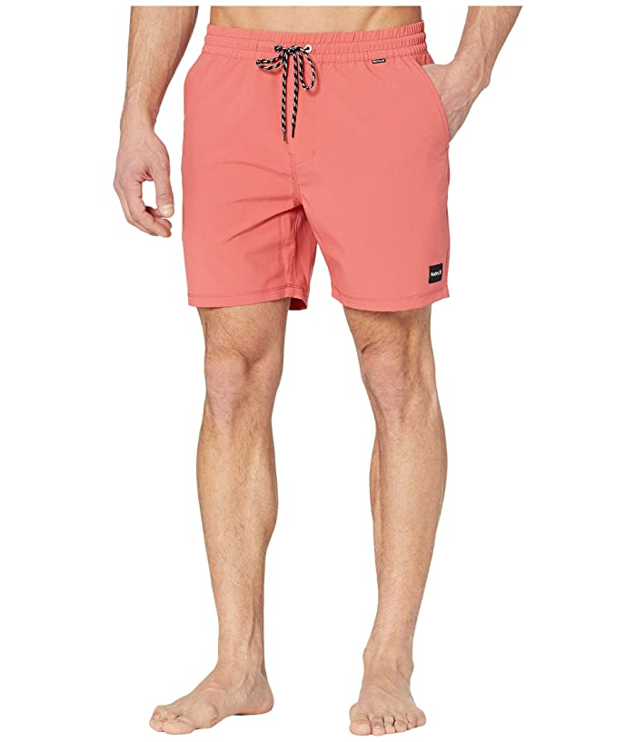 Hurley  17 One Only Volley Boardshorts (Pueblo Red) Mens Swimwear