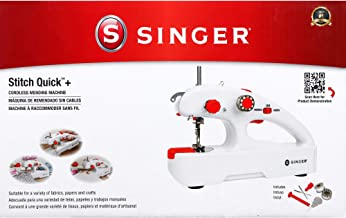 SINGER Stitch Quick + (dos hilos) Máquina de reparación manual, color blanco