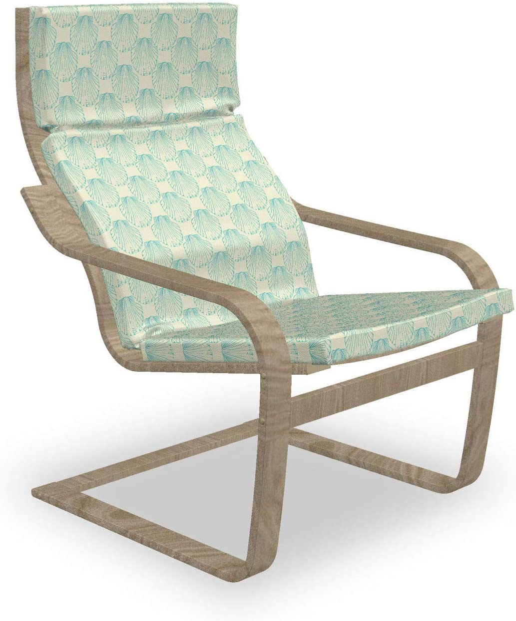 Ambesonne Summer Indefinitely Armchair A surprise price is realized Pad and Slipcover Marine Seashell Mol