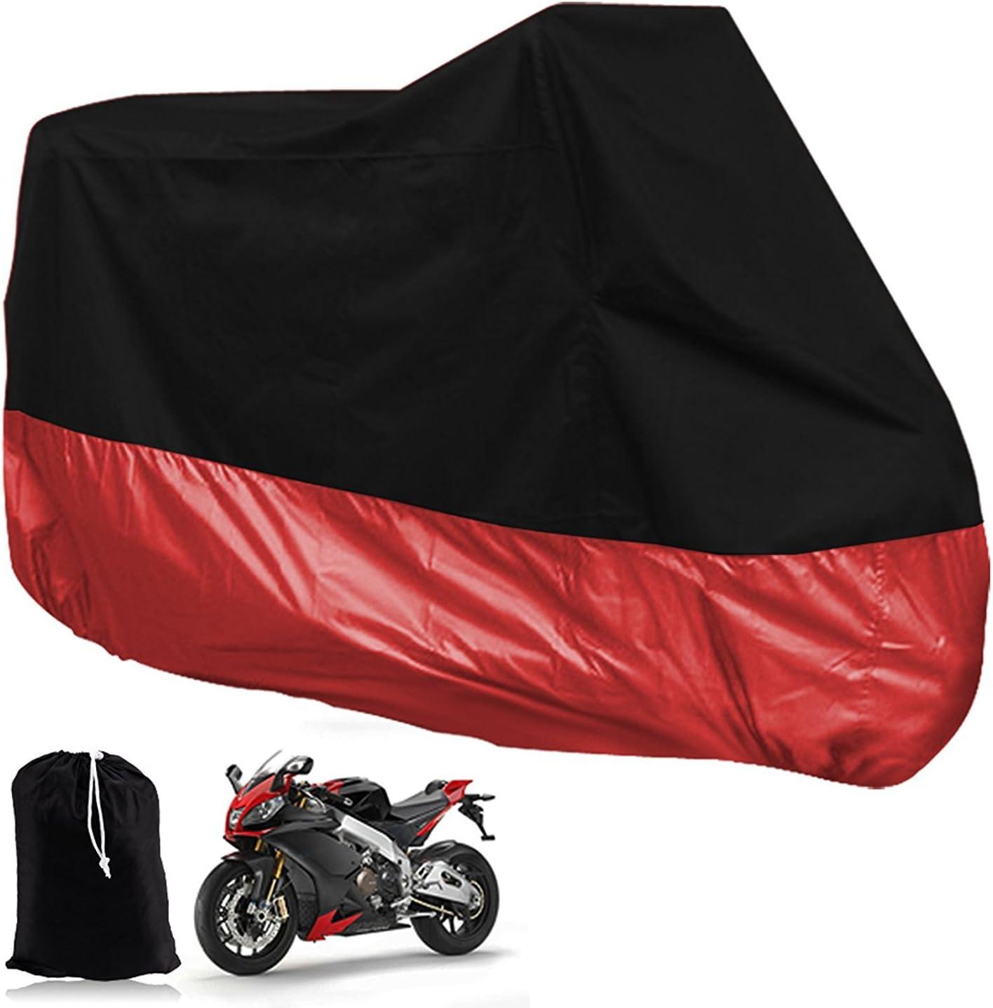 Lanxi wasserdichte Abdeckung f/ür Motorrad//Motorrad Schwarz Rot