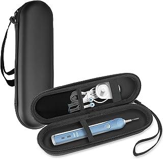 ProCase Oral B/Philips 歯ブラシ携帯用ケース,電動歯ブラシ収納ケース、メッシュポケット付き 対応機種: Oral-B Pro 、Philips Sonicare など – ブラック