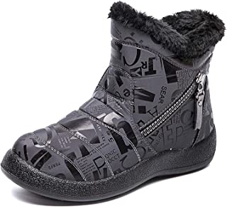 CELANDA Impermeable Botas de Nieve para Niño Niña Niños Invierno Calientes Felpa Forro Zapatos Ligero Calzado de Tobillo A...