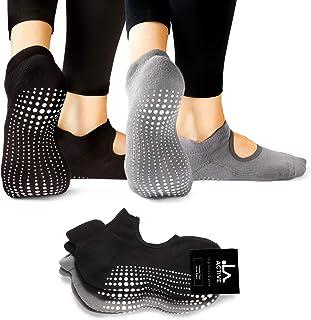 LA Active Calze Presa Antiscivolo Cotone – Per Yoga Pilates Danza Sbarra - Ballet