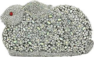 Clutches-Bags Ladies Diamante Womens Sequin Purse Luxury Chain Evening-Bags Glitter Wedding Rabbit