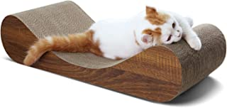 ScratchMe Cat Scratcher Cardboard Lounge Bed,  Cat Scratching Post with Catnip