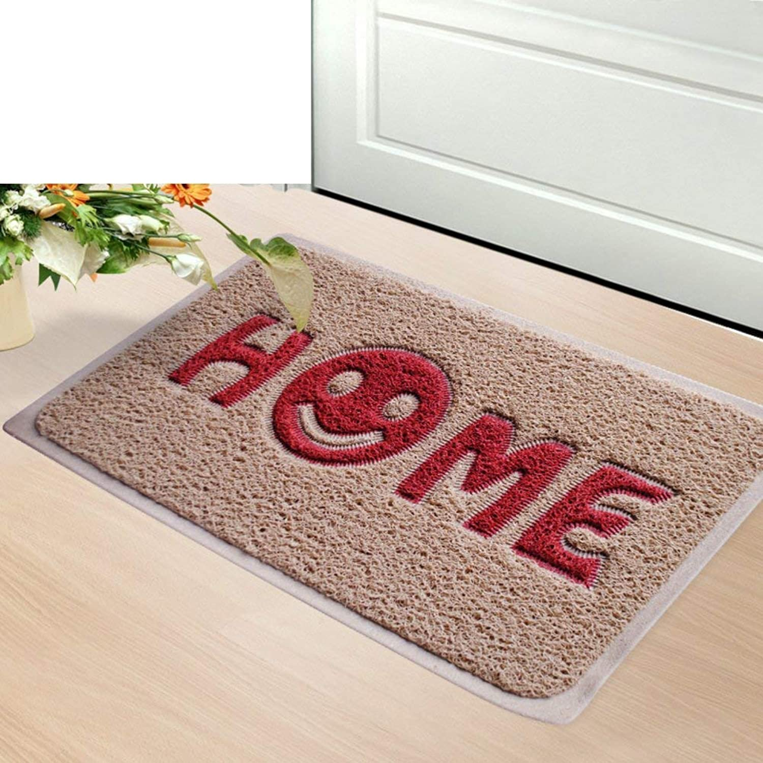BDT Household Carpet Bathroom Mat, Entry Door Absorbent Non-Slip Mat, Long Strip Small Flower Carpet Door Mat