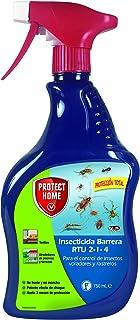 Protect Home - Insecticida Barrera Protección Total, Control de Insectos Voladores y Rastreros, Pulverizador, 750 ml, Color Verde Agua