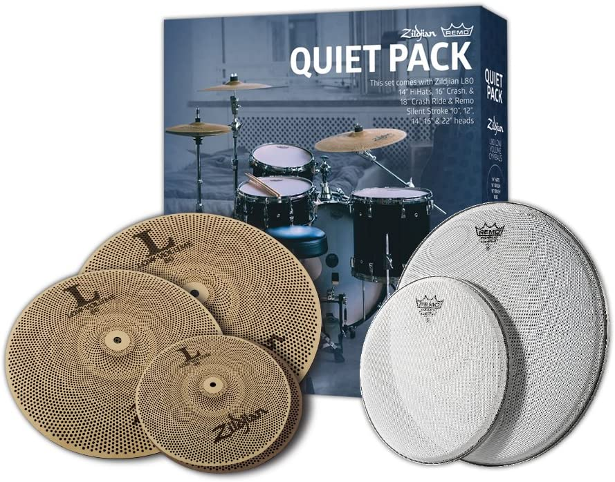 Zildjian L80 Low Volume Cymbal Pack Remo SilentStroke w LV468 Inventory cleanup selling sale discount -