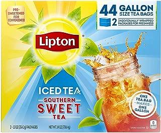 Lipton Southern Sweet Tea, Gallon-Size Tea Bags (44 Tea Bags)