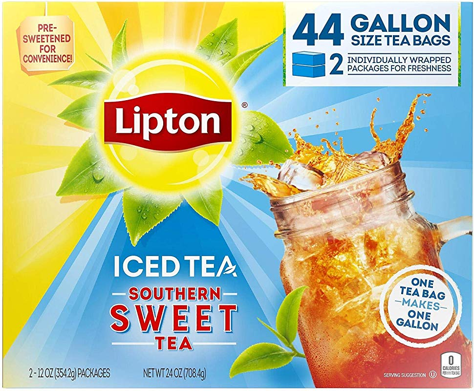 Lipton Southern Sweet Tea Gallon Size Tea Bags 44 Tea Bags