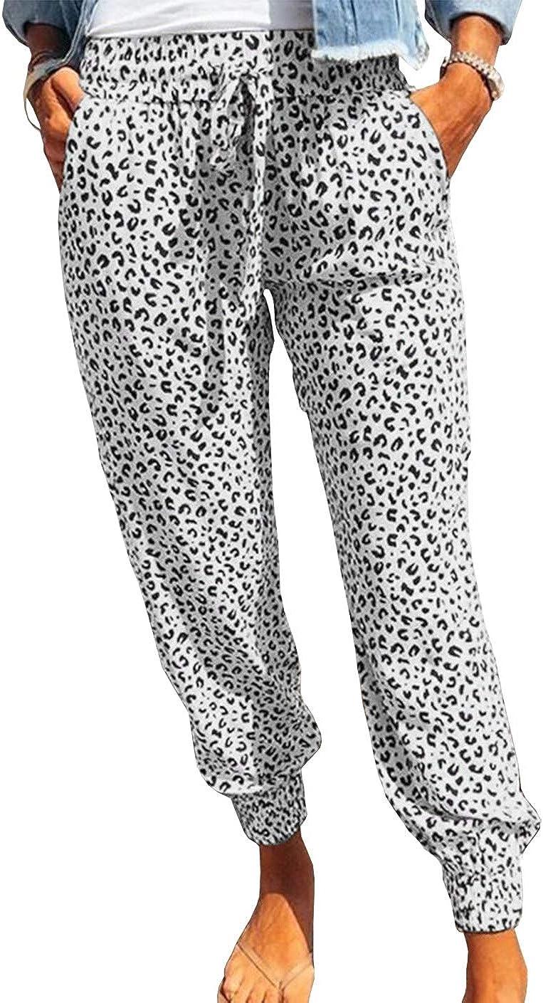 KIRUNDO 2021 Women's Jogger Long Pants Drawstring Casual Elastic Waist Sweatpants Camouflage Lounge Pants (S-XL)