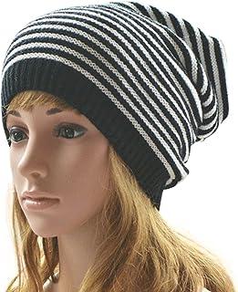MINAKOLIFE Women Men Slouchy Baggy Beanie Knit Crochet Oversized Skull Ski Hat Cap