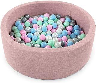Tweepsy Soft Baby Round Ball Pool Pit 250 Balls 90x30cm Handmade EU - BKOZN3