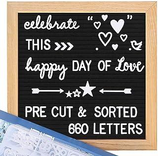 Womdee Felt Letter Board with Letters - 690 Letters +Bonus Cursive Words, 10X10 Letter Board, Letterboard, Message Board, ...