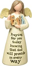 """Blossom Bucket 154-10230""""Praying for You Angel with Faith Decorative Item, 4"""""""