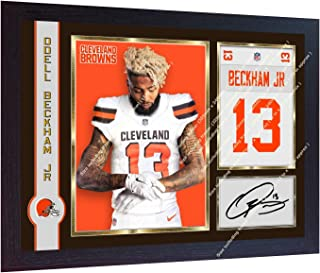 S&E DESING New Odell Beckham Jr NFL Cleveland Browns Signed Autographed Photo Print Framed