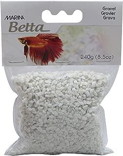 Marina Betta Aquarium Starter Kit, Gravel, White